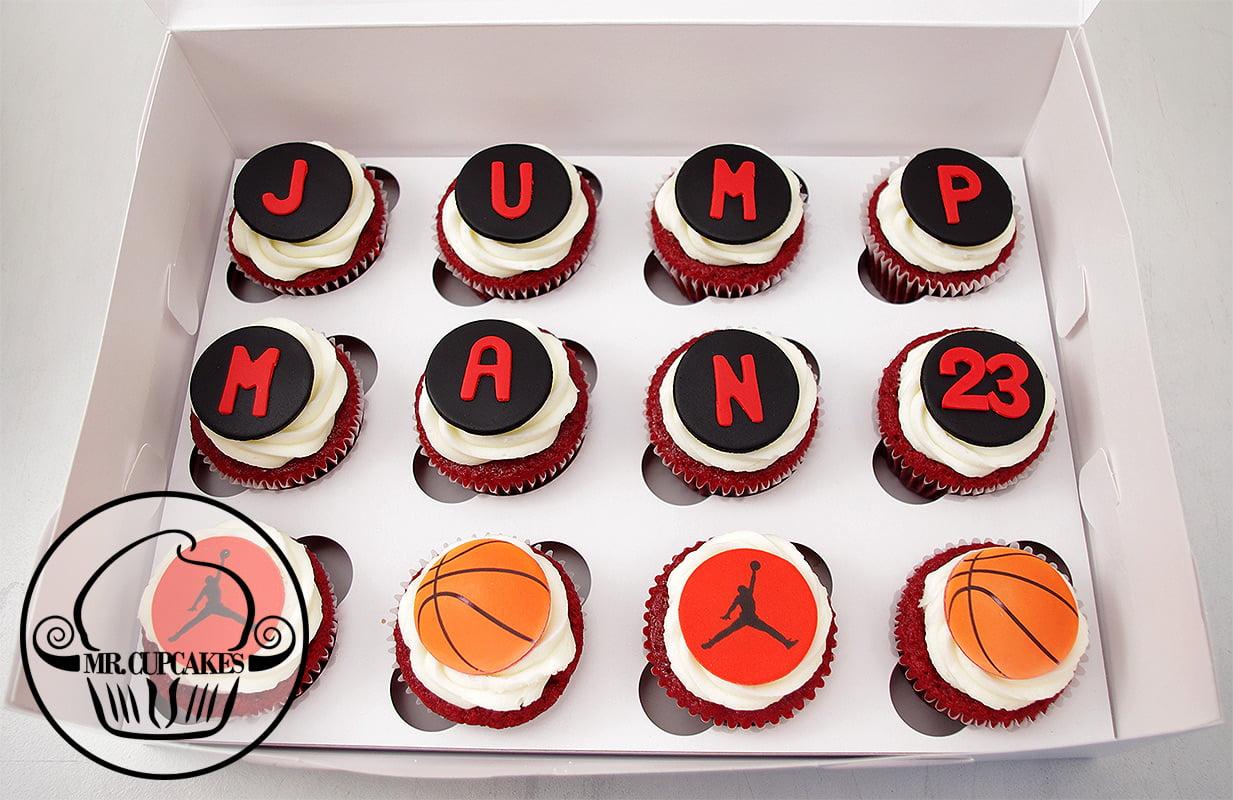 Jump man cupcakes