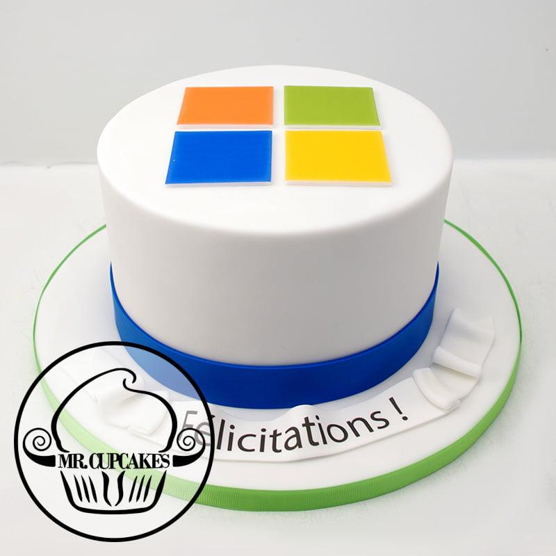 Microsoft Logo Cake