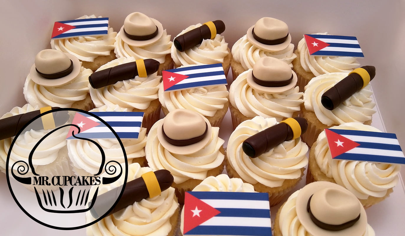 Cuban cigar cupcakes