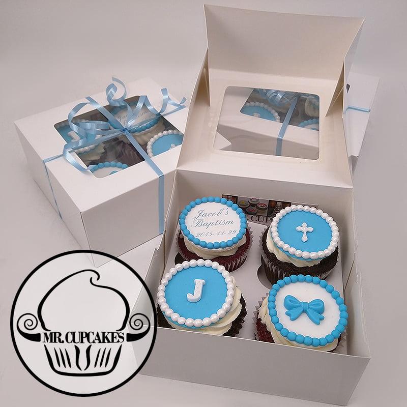 Baptism Cupcake Gift box