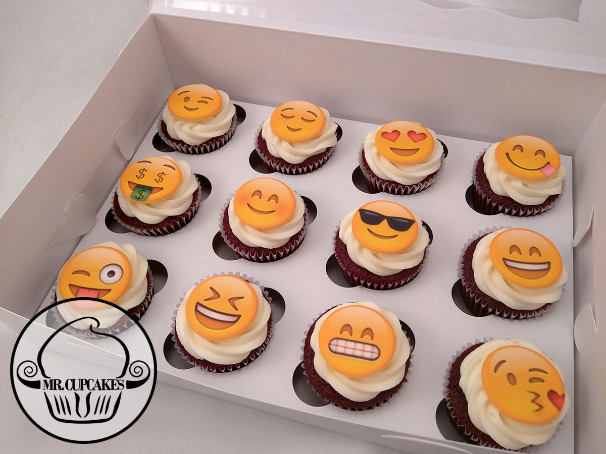 Mixed Emoji Cupcakes
