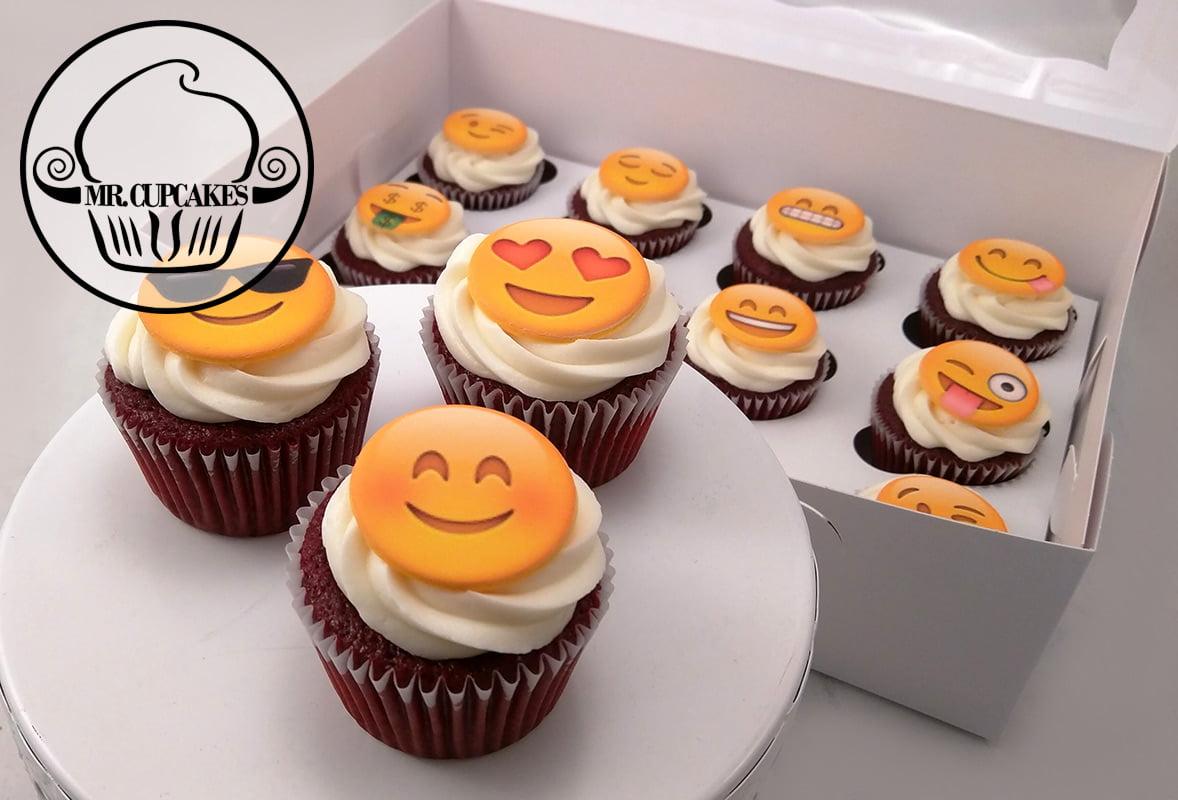 Happy Emoji cupcakes