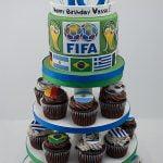 FIFA Cupcake tower
