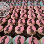 Baby bump cupcakes