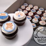 Blue Baby shower cupcakes