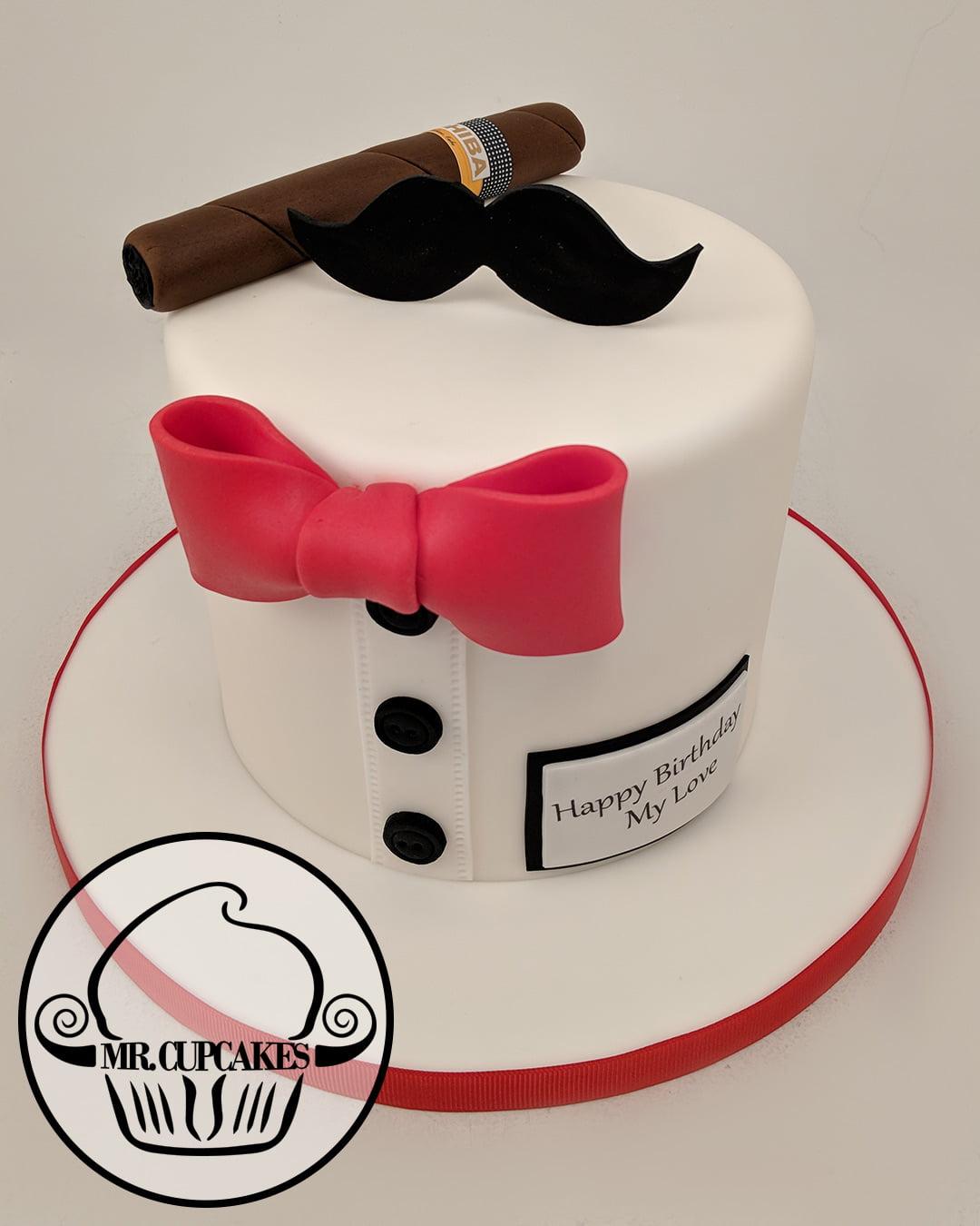 Mr. Mustache cake